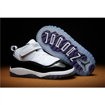 Kids Nike Air Jordan Shoes 11 White Black