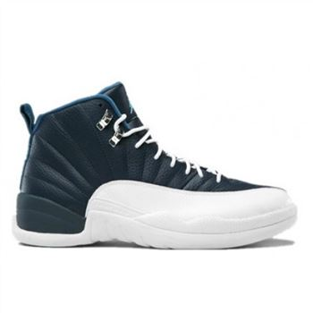 130690-410 Air Jordan 12 Retro 2012 Obsidian University Blue White French Blue A12006