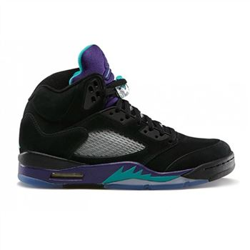 136027-007 Air Jordan 5 Retro Grapes Black New Emerald-Grape Ice-Black (Women Men Gs Girls)