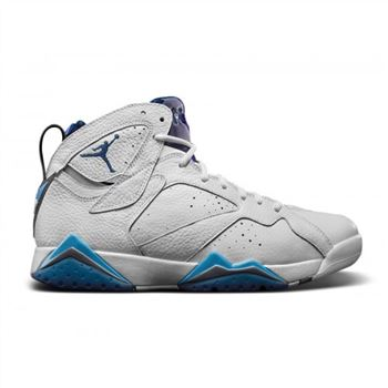 Authentic 304775-107 Air Jordan 7 Retro White/French Blue-University Blue-Flint Grey