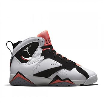 Authentic 442960-106 Air Jordan 7 Retro Girls White/Black-Hot Lava-Wolf Grey