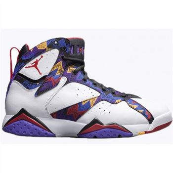 Authentic 304775-142 Air Jordan 7 Retro White/University Red-Black-Bright Concord