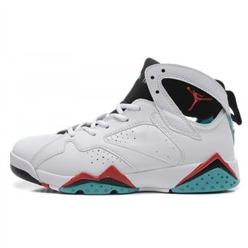 Air Jordan 7 (VII) Retro Womens White Red Blue Shoes