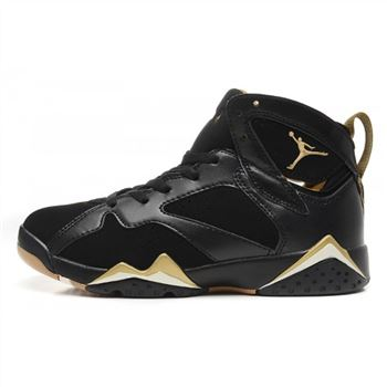 Air Jordan 7 (VII) Retro Black Metallic Gold (Men Women GS Girls)