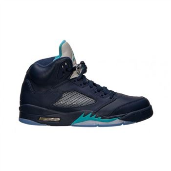 Authentic 136027-405 Air Jordan 5 Retro Midnight Navy/Turquoise Blue-White
