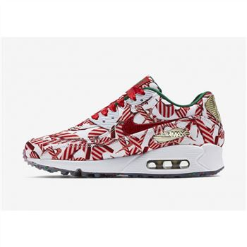 Nike Air Max 90 Womens Shoes Red Gold White
