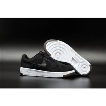Womens Nike Flyknit Air Force 1 Low Black Shoes