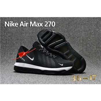 Nike Air Max 270 Black White Shoes For Women