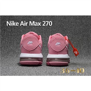 Nike Air Max 270 Pink White Shoes For Women
