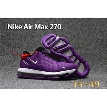 Nike Air Max 270 Purple White Shoes For Women