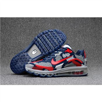 Womens Nike Air Max 2017.8 Camouflage Navy Red Shoes