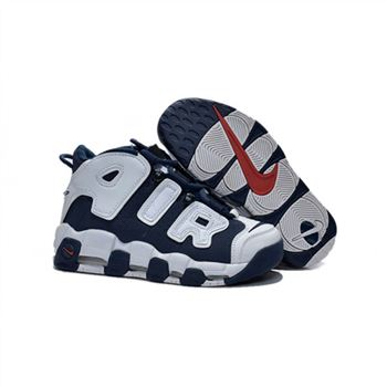 Womens Nike Air More Uptempo White Navy Black Shoes