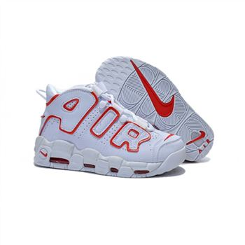Womens Nike Air More Uptempo White Red Shoes