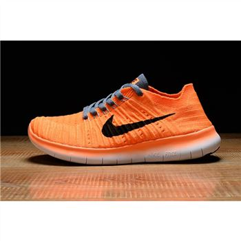 Womens Nike Free RN Shoes Orange Gray