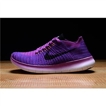 Womens Nike Free RN Shoes Purple Red