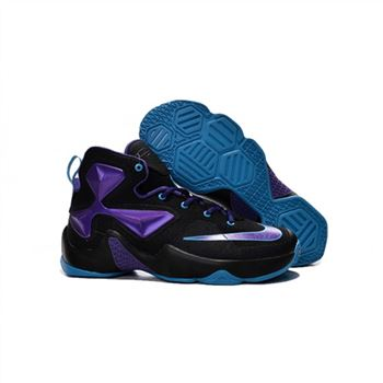 Womens Nike Lebron James 13 Black Purple Jade