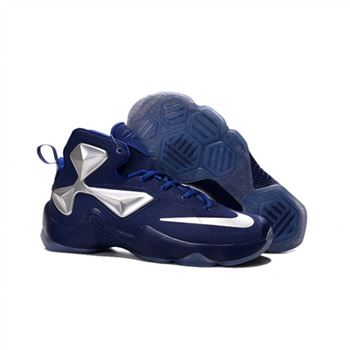 Womens Nike Lebron James 13 Blue Silver