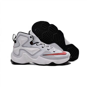 Womens Nike Lebron James 13 White Black Red