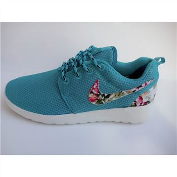 Womens Nike Roshe Run Liberty Floral Running Shoes Blue