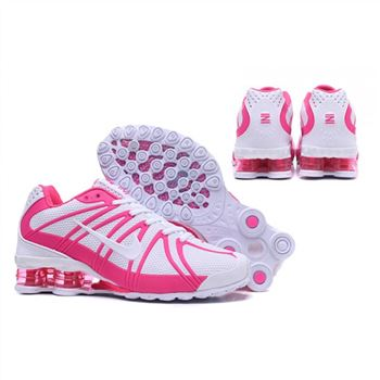 Womens Nike Shox Avernue 801 White Pink Shoes