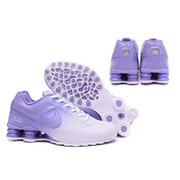 Womens Nike Shox Deliver White Purple Shoes