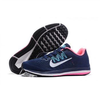 Womens Nike Zoom Winflo 5 Navy Pink Blue Shoes