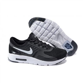 Mens Air Max Zero Qs Shoes Black White
