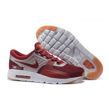 Nike Air Max Zero Qs Shoes For Men Deep Red White