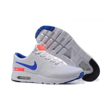 Nike Air Max Zero Qs Shoes For Men White Sapphire Orange