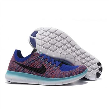 Nike Free Flyknit 5.0 Mens Saphire Fuchsia Shoes