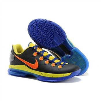 Mens Nike Zoom KD 5 Elite Black Blue Yellow