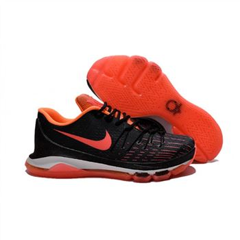 Mens Nike KD 8 Basketball Shoes Black Orange