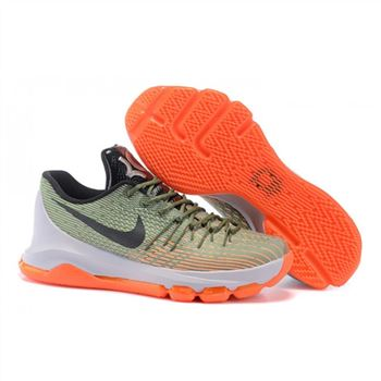 Mens Nike KD 8 EP Basketball Shoes ArmyGreen Orange