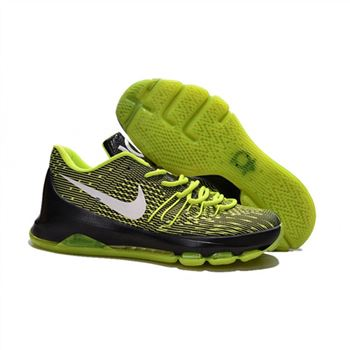Mens Nike KD 8 EP Basketball Shoes Green Black White