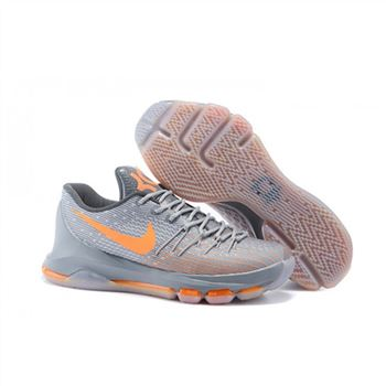 Mens Nike KD 8 EP Basketball Shoes Grey Orange