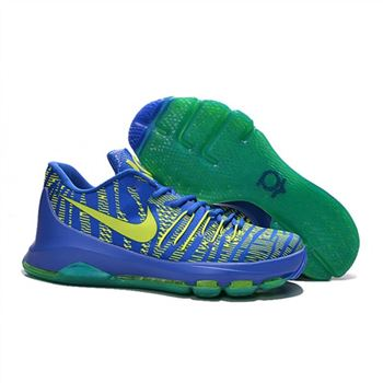 Mens Nike KD 8 EP Basketball Shoes Hyper Cobalt Volt Green