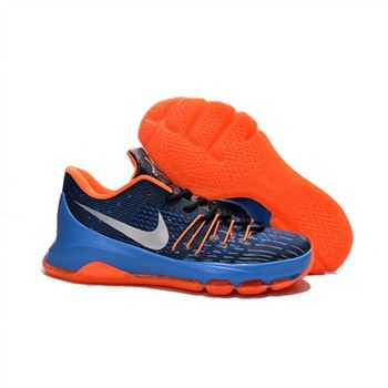 Mens Nike KD 8 EP Basketball Shoes Navy Orange Blue