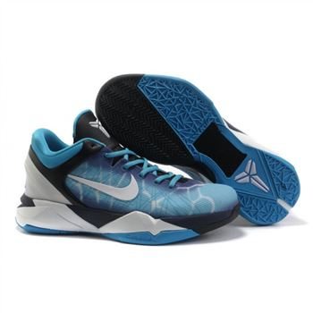 Mens Nike Kobe 7 Blue Black White