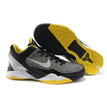 Mens Nike Zoom Kobe 7 Black Grey Yellow