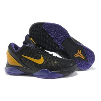 Mens Nike Zoom Kobe 7 Black Purple Yellow